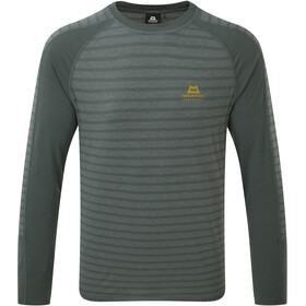 Mountain Equipment Redline LS Tee Men Moor Stripe/Moorland